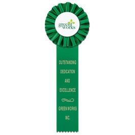 Ideal 1 Rosette Award Ribbon