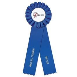 Ideal 2 Rosette Award Ribbon