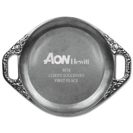Engraved Floral Handled Award Tray