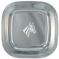 Engraved Silver Tray w/ Horse Stock Logo