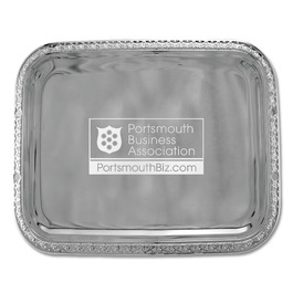 Beaded Rectangular Award Tray