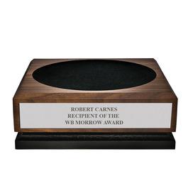 Large Walnut Presentation Base w/ Engraved plate