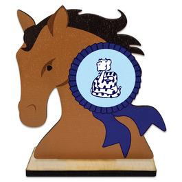 Birchwood Horse Head Award Trophy w/ Natural Birchwood Base