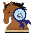 Birchwood Horse Head Award Trophy w/ Natural Birchwood Base