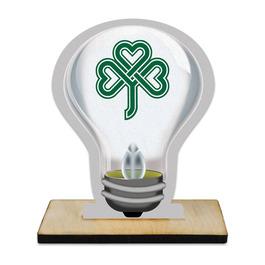 Birchwood Light Bulb Award Trophy w/ Natural Birchwood Base