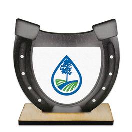 Birchwood Horseshoe Award Trophy w/ Natural Birchwood Base