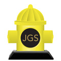 Birchwood Hydrant Award Trophy w/ Black Base