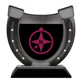 Birchwood Horseshoe Trophy w/ Black Base