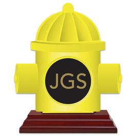Birchwood Hydrant Award Trophy w/ Rosewood Base