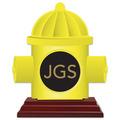 Hydrant Shape Birchwood Award Trophy w/ Rosewood Base