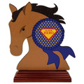 Birchwood Horse Head Trophy w/ Rosewood Base