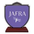 Shield Shape Birchwood Award Trophy w/ Rosewood Base