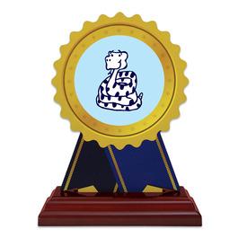 Birchwood Rosette Trophy w/ Rosewood Base