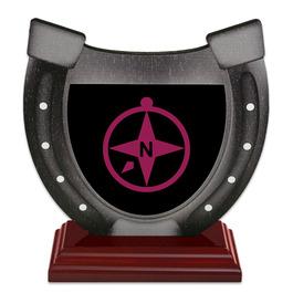 Birchwood Horseshoe Trophy w/ Rosewood Base