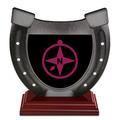 Horseshoe Shape Birchwood Award Trophy w/ Rosewood Base