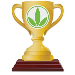 Birchwood Loving Cup Award Trophy w/ Rosewood Base