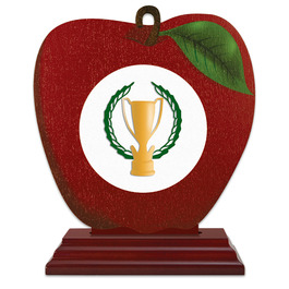 Birchwood Apple Award Trophy w/ Rosewood Base