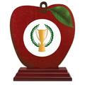 Apple Shape Birchwood Award Trophy w/ Rosewood Base