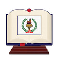 Open Book Shape Birchwood Award Trophy w/ Rosewood Base