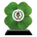 Birchwood Clover Award Trophy w/ Black Base