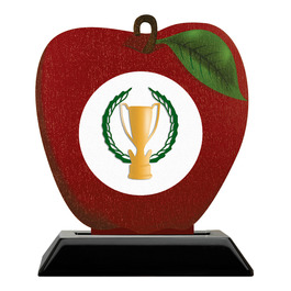 Birchwood Apple Award Trophy w/ Black Base