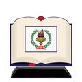 Open Book Shape Birchwood Award Trophy w/ Black Base