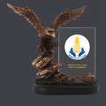 Bronze Resin Eagle w/ Full Color Printed Glass