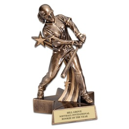 Female Softball Superstar Resin Award Trophy