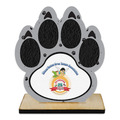 Birchwood Paw Print Award Trophy w/ Natural Birchwood Base