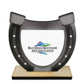Birchwood Horseshoe Award Trophy w/ Natural Birchwood Base