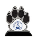 Birchwood Paw Print Award Trophy w/ Black Base