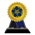 Birchwood Rosette Trophy w/ Black Base