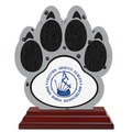 Birchwood Paw Print Award Trophy w/ Rosewood Base