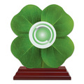 Birchwood Clover Award Trophy w/ Rosewood Base