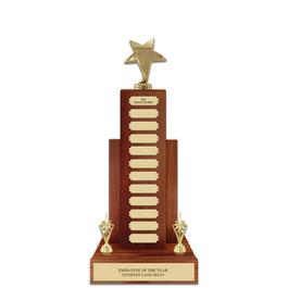 Perpetual Award Trophy in Solid Walnut