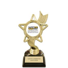 "5-1/2"" Black HS Base Award Trophy w/ Insert Top"