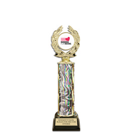 "12"" Black HS Base Award Trophy w/ Insert Top"
