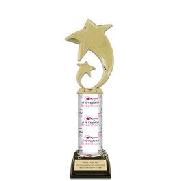"11"" Black HS Base Award Trophy w/ Custom Column"