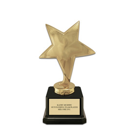 Star Trophy w/ Square Base