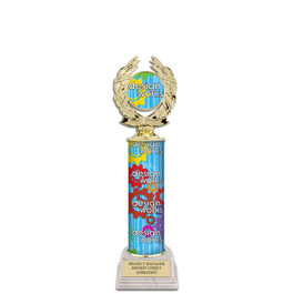 "12"" Design Your Own Trophy w/ White HS Base"