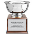 Revere Bowl Award Trophy w/ Cherry Base