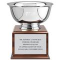 Revere Bowl Award Trophy w/ Cherry Base