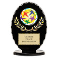 Black Free Standing Oval Trophy