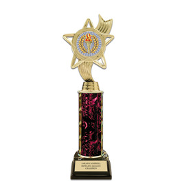 "11"" Black HS Base Award Trophy w/ Insert Top"
