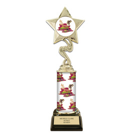 "10"" Design Your Own Trophy w/ Black HS Base"