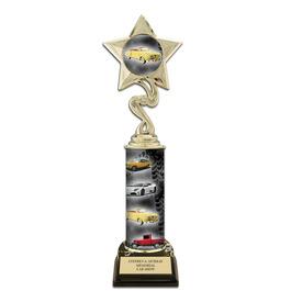 "11"" Design Your Own Trophy w/ Black HS Base"