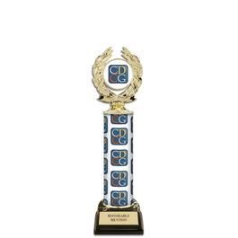 "12"" Design Your Own Trophy w/ Black HS Base"