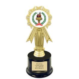 "7"" Award Trophy w/ Round Base & Insert Top"