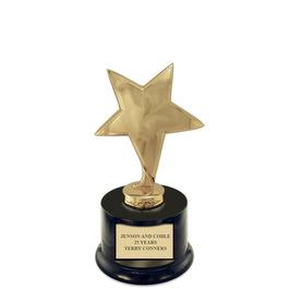 Star Trophy w/ Round Base