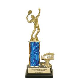 "10"" Black HS Base Award Trophy w/ Trim"